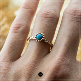 iXXXi Jewelry Losse Ring Inspired Turquoise Rosé 2mm