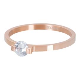 iXXXi Jewelry Vulring Mini Glamour Stone 2mm Rosé