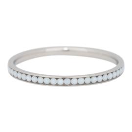 iXXXi Jewelry Zirconia White Stone Zilverkleurig 2mm