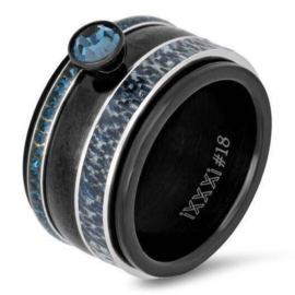 iXXXi Jewelry Basis Ring 12mm Zwart