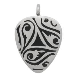 iXXXi Jewelry Hanger Plectrum Tribals Zilverkleurig