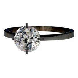iXXXi Jewelry Secure Crystal Zwart 2mm