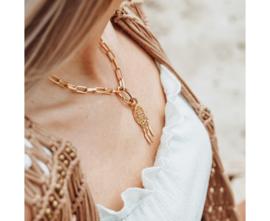 iXXXi Jewelry Square Chain Dreamcatcher Ketting Goudkleurig