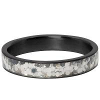 iXXXi Jewelry Vulring Glitter Confetti 4mm Zwart