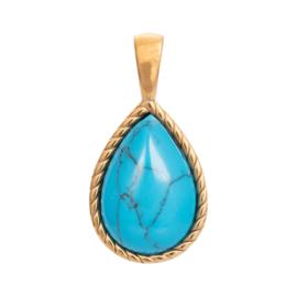 iXXXi Jewelry Pendant Magic Turquoise Gold