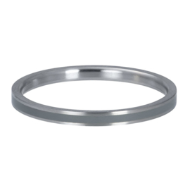 iXXXi Jewelry Vulring 2mm Line Grey Matt