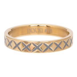 iXXXi Jewelry Vulring 4mm X Line Goudkleurig