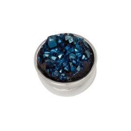 iXXXi Jewelry Top Part Drusy Dark Blue Zilverkleurig