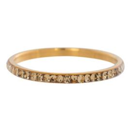 iXXXi Jewelry Zirconia Topaz Goudkleurig 2mm