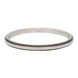 iXXXi Jewelry Double Gear Zilverkleurig/Zwart 2mm
