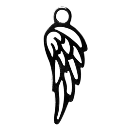 iXXXi Jewelry  Charm Angel Wing Zwart