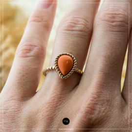 iXXXi Jewelry Losse Ring Magic Coral Rosé 2mm