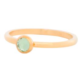 iXXXi Jewelry 1 Zirconia Light Green Goudkleurig 2mm