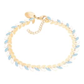 iXXXi Jewlery Bracelets Malediven Blue Goudkleurig