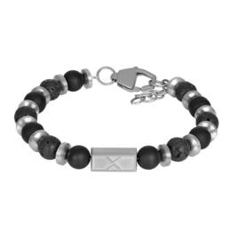 iXXXi Men Bracelet Lionel  Silver/Black