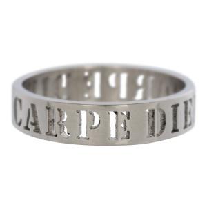 iXXXi Jewelry Men Carpe Diem Mat 6mm zilver