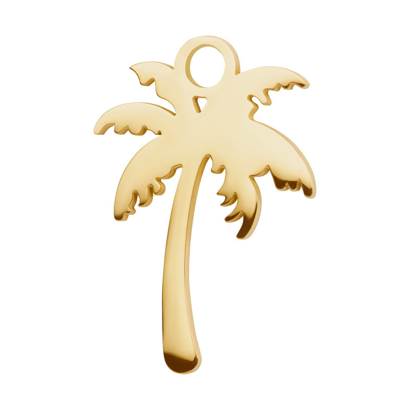 iXXXi Jewelry Charm Palm Tree Goudkleurig