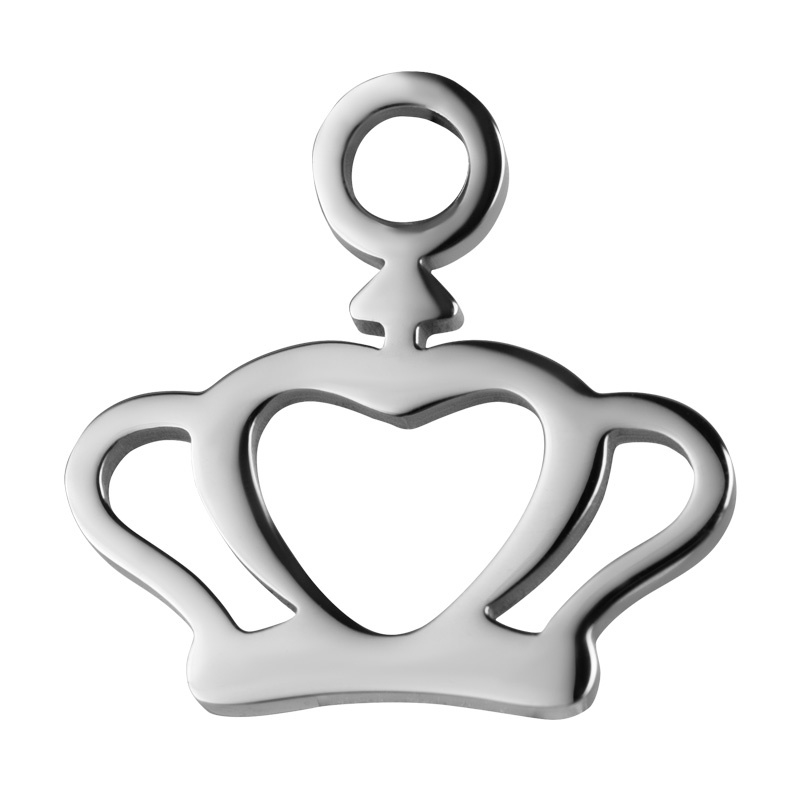 iXXXi Jewelry Charm Crown Zilverkleurig