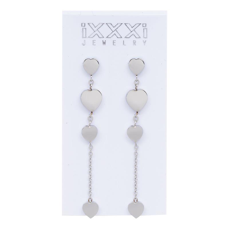 iXXXi Jewelry 4 Hearts Dangle Earring Silver colour
