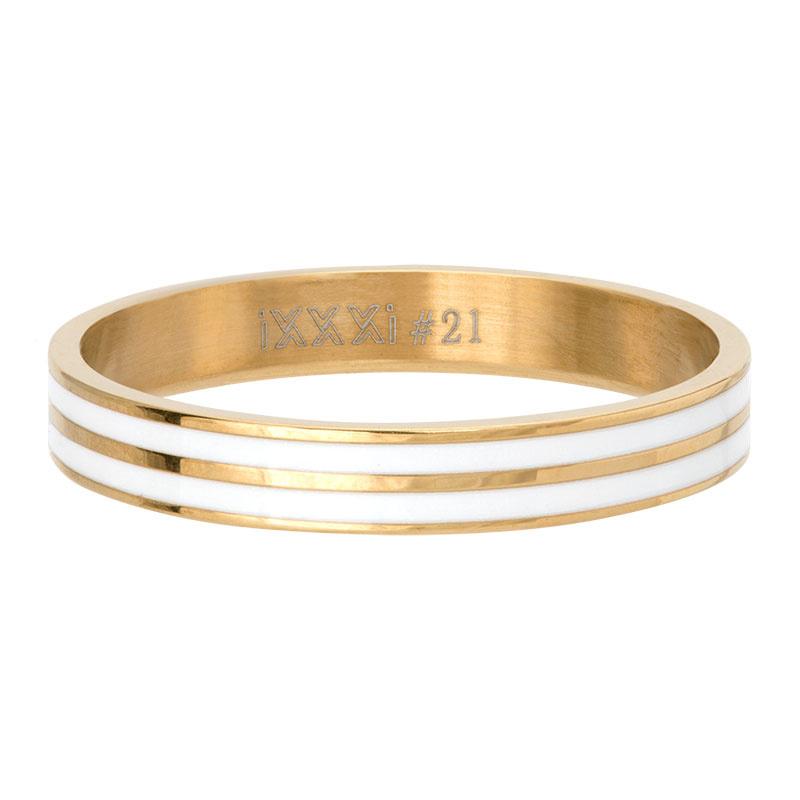 iXXXi Jewelry Vulring Double Line White Goudkleurig 4mm