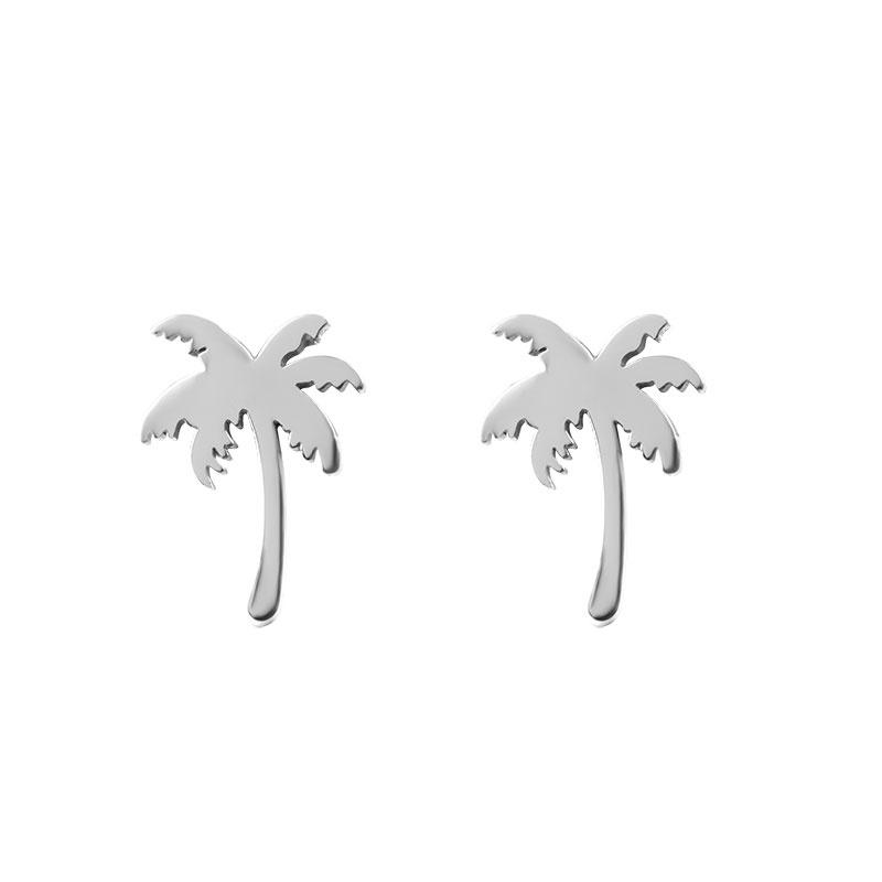 iXXXi Jewelry Ear Studs Palm Tree Zilverkleurig