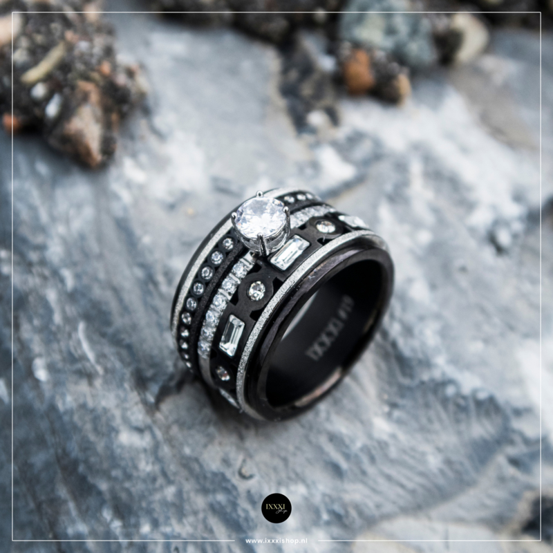 iXXXi Jewelry Royal Glam Combi Ring 10