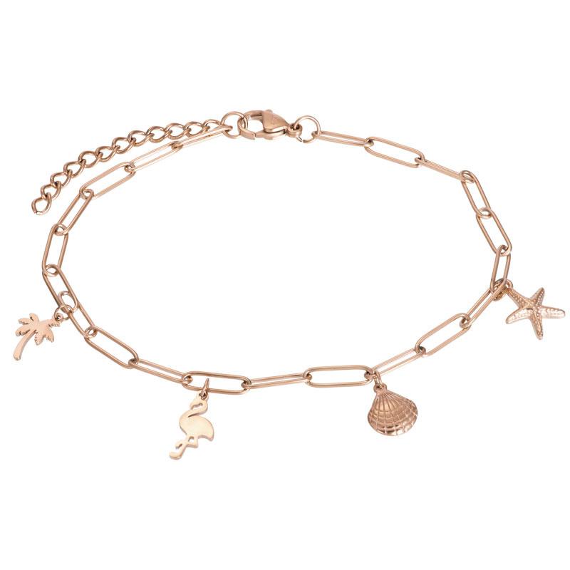 iXXXi Jewelry Ankle With Charms Rosé