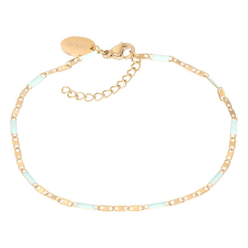 iXXXi Jewelry Bracelets Curacao Green Goudkleurig