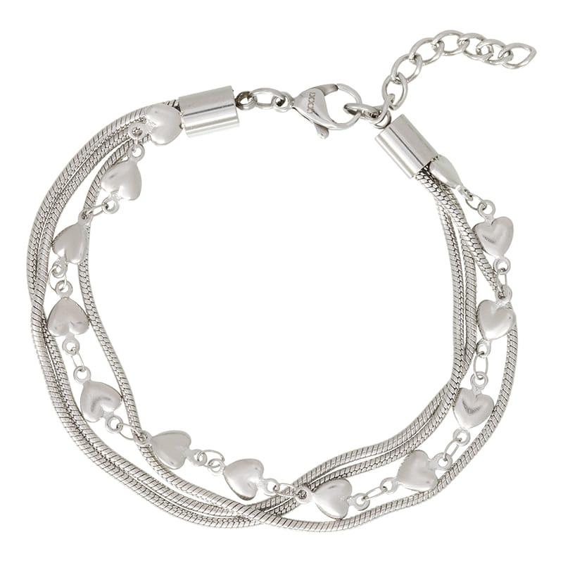 iXXXi Jewlery Bracelet Snake and 1 Heart Zilverkleurig