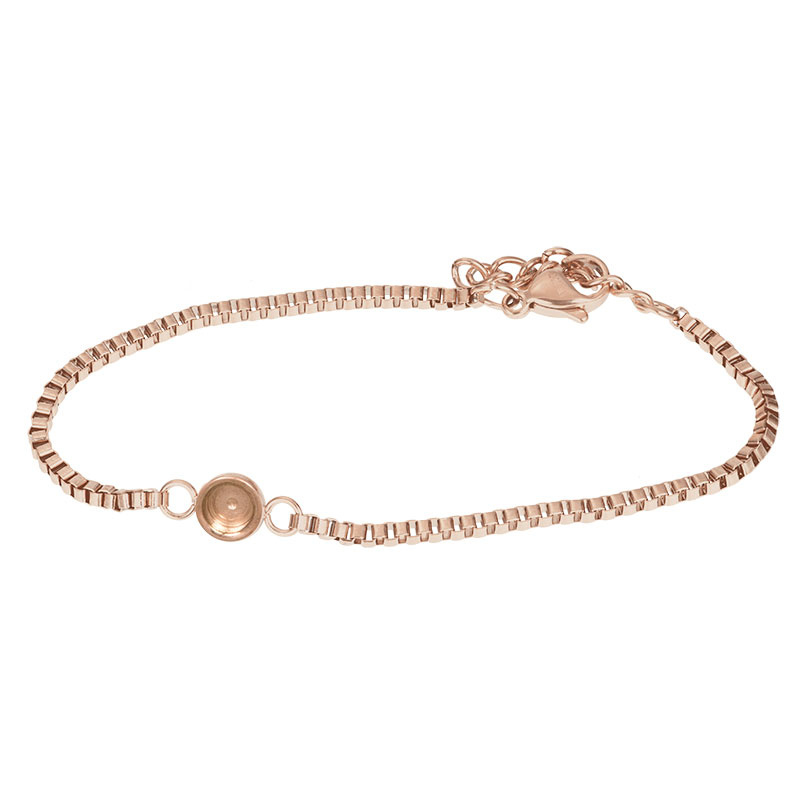 iXXXi Jewelry Bracelets Box Chain Top Part Base Rosé
