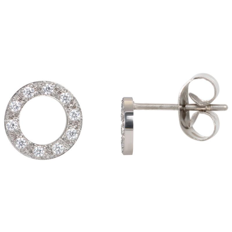 iXXXi Jewelry Ear studs Circle Stone 10mm Zilverkleurig
