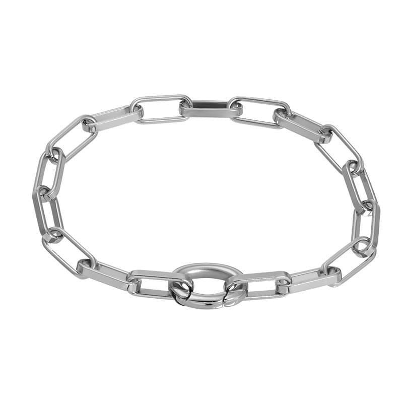 iXXXi Jewelry Bracelet Square Chain Silver