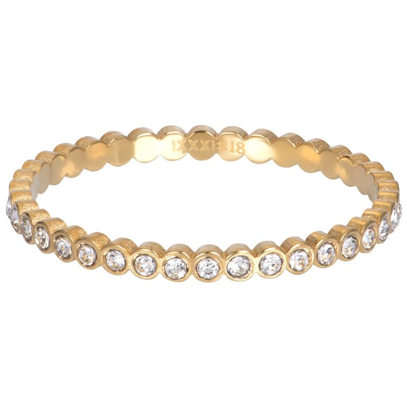 iXXXi Jewelry Vulring Small Circle Stone 2mm Goudkleurig