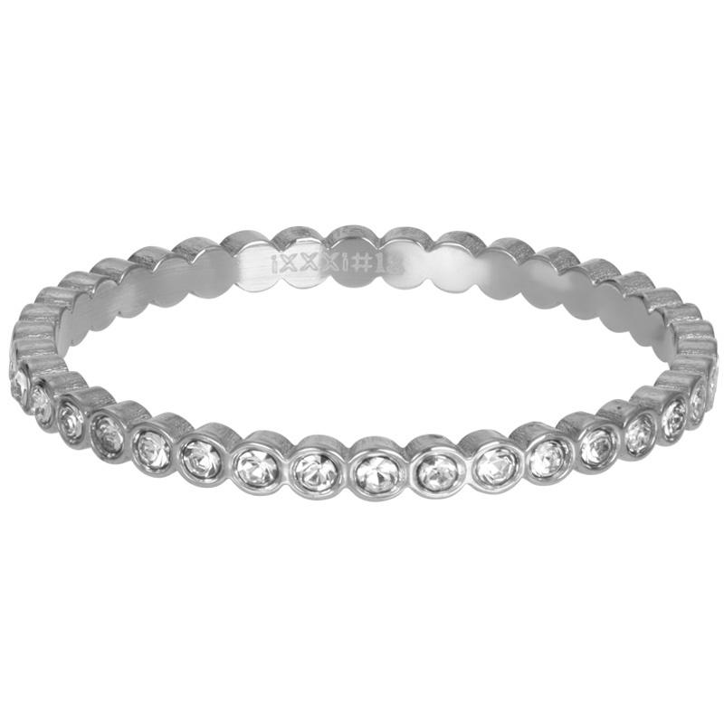 iXXXi Jewelry Vulring Small Circle Stone 2mm Zilverkleurig