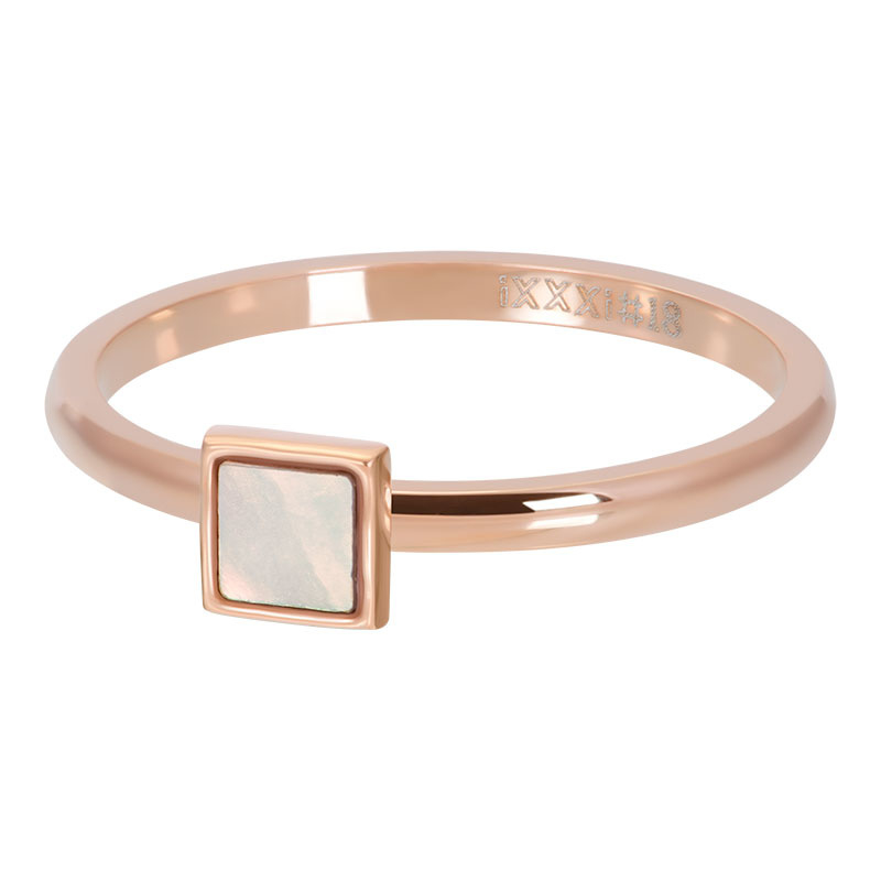 iXXXi Jewelry Vulring Pink Shell Stone Square 2mm Rosé