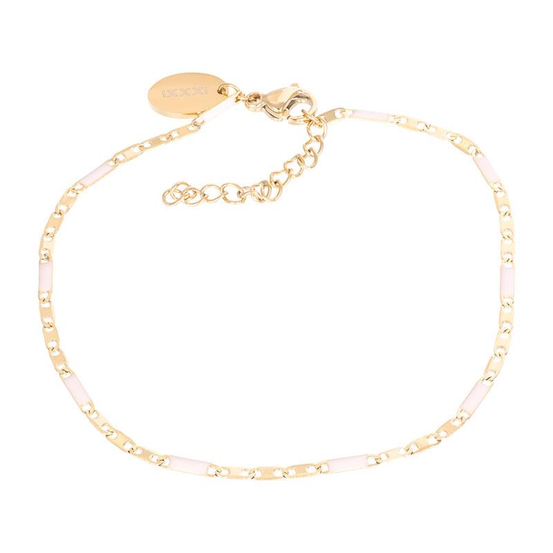 iXXXi Jewelry Bracelets Curacao Pink Goudkleurig