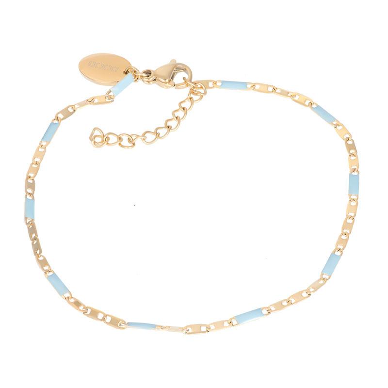 iXXXi Jewelry Bracelets Curacao Blue Goudkleurig