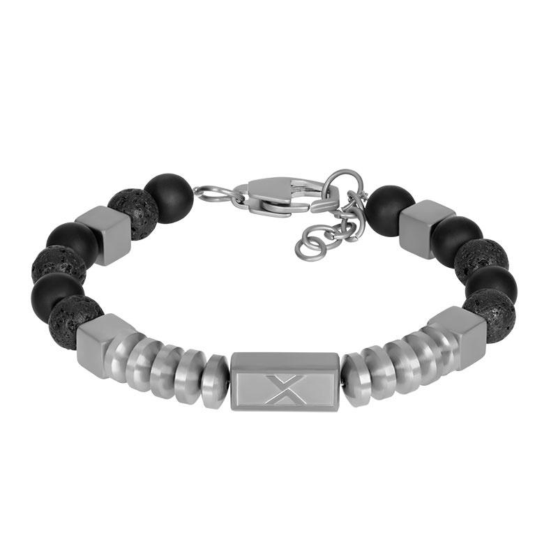 iXXXi Men Bracelet Fern Silver/Black