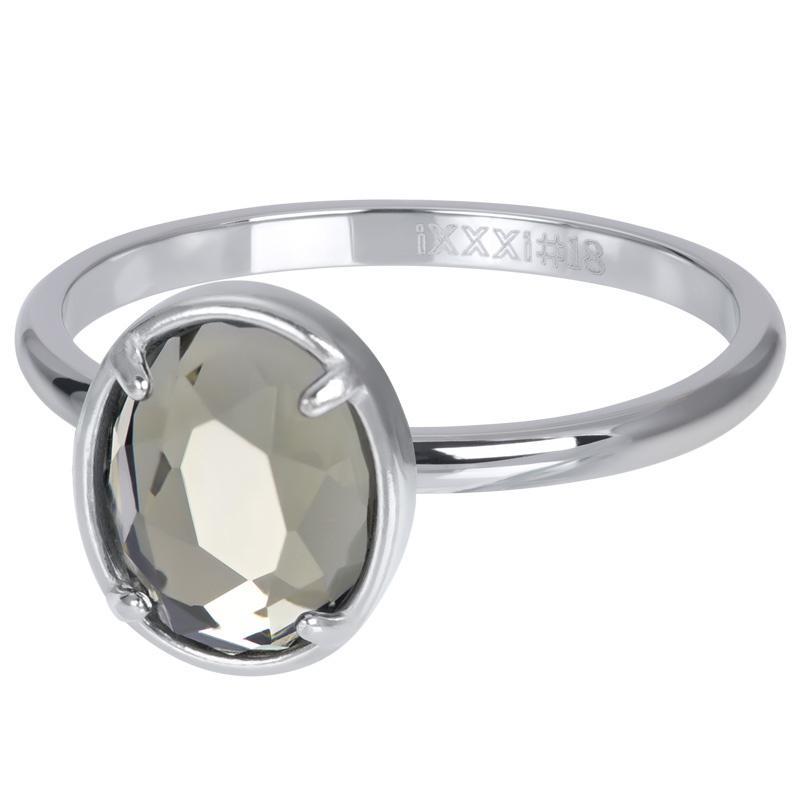 iXXXi Jewelry Vulring Glam Oval Crystal 2mm Zilverkleurig