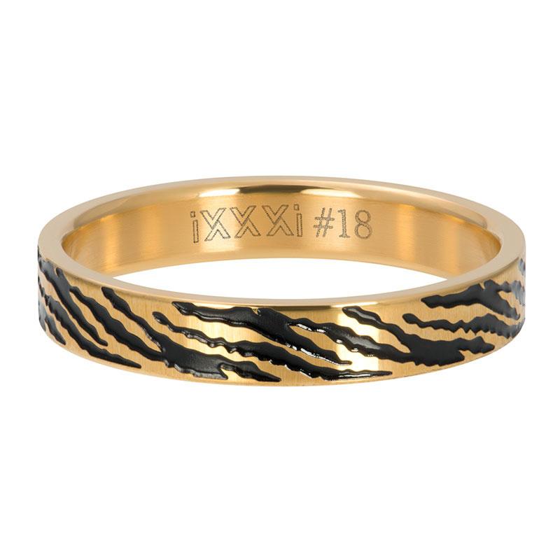 iXXXi Jewelry Vulring 4mm Zebra Goudkleurig