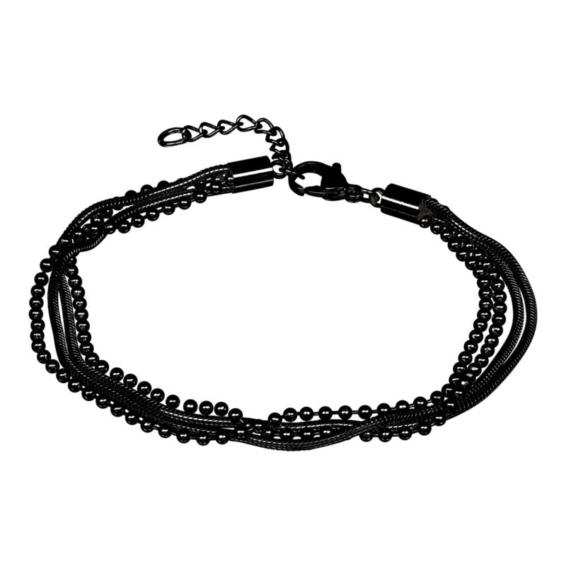 iXXXi Jewelry Bracelet Snake Ball Slim 4pcs Zwart