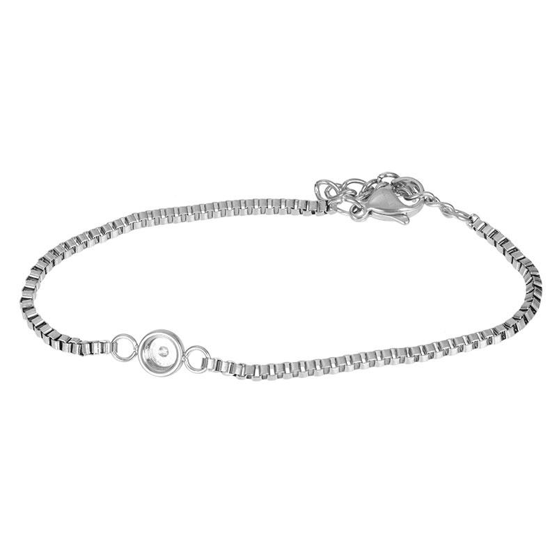 iXXXi Jewelry Bracelets Box Chain Top Part Base Zilverkleurig