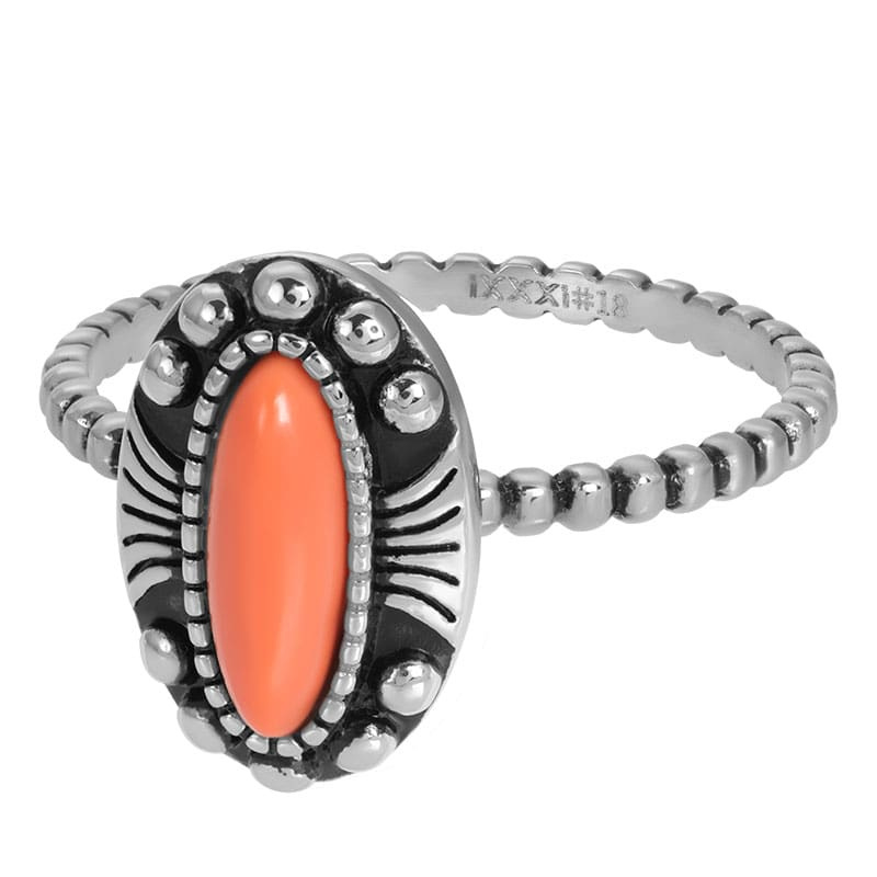 iXXXi Jewelry Vulring Indian Coral Silver