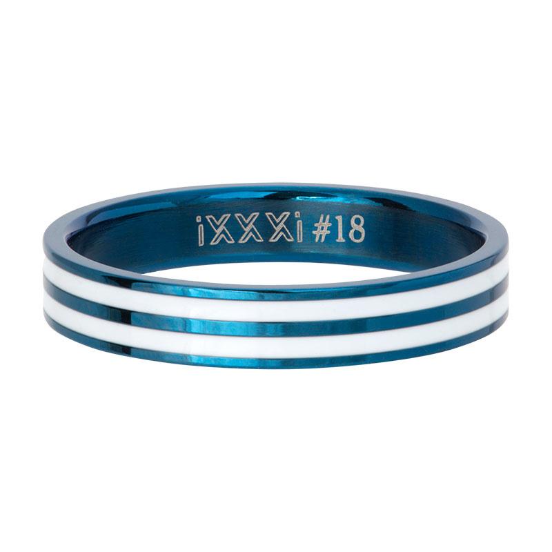 iXXXi Jewelry Vulring Double Line White Blauw 4mm