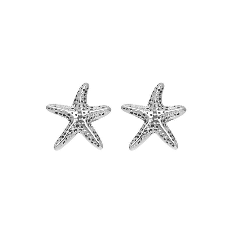 iXXXi Jewelry Ear Studs Starfish Zilverkleurig