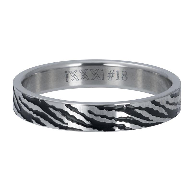 iXXXi Jewelry Vulring 4mm Zebra Zilverkleurig