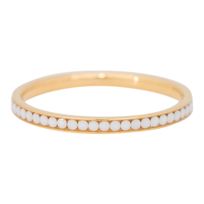 iXXXi Jewelry Zirconia White Stone Goudkleurig 2mm