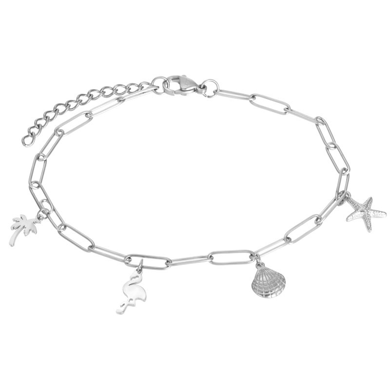 iXXXi Jewelry Ankle With Charms Zilverkleurig