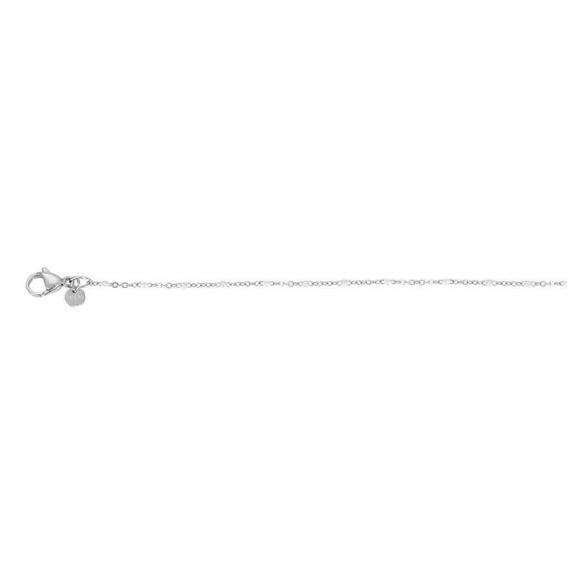 iXXXi Jewelry Bracelet Slim Ball White Silver