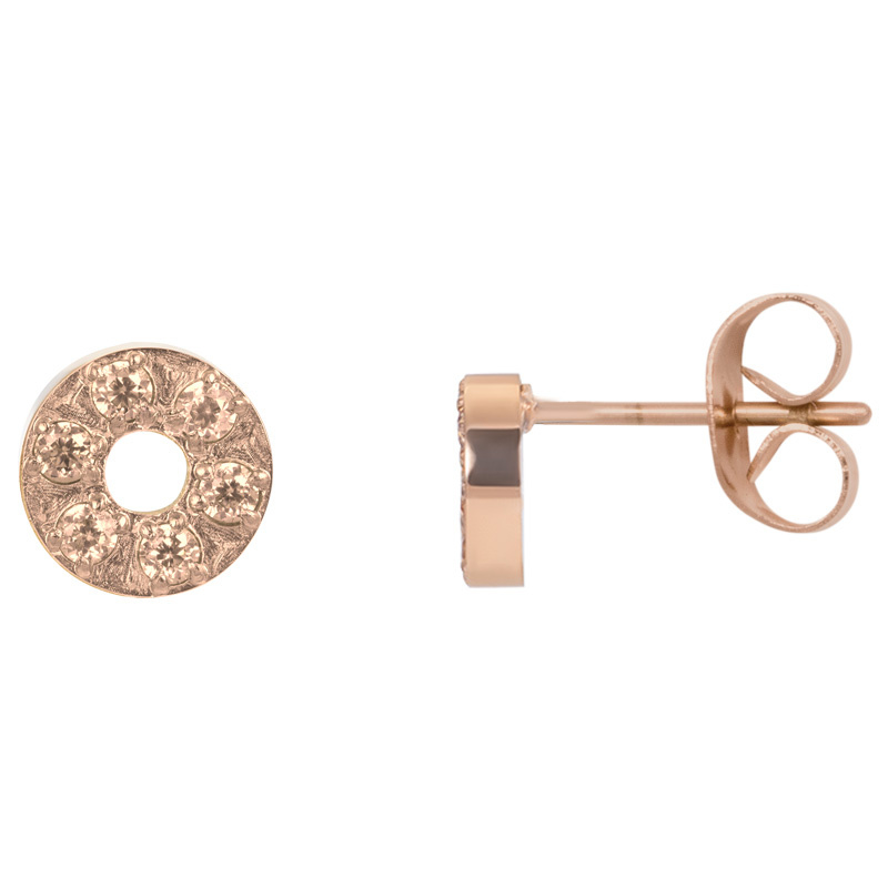 iXXXi Jewelry Ear studs Circle Stone 6mm Rosé